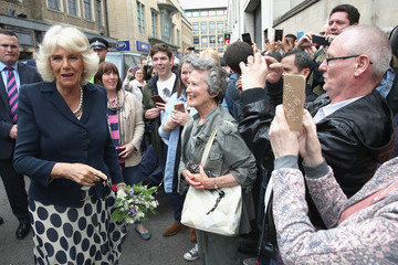 Camilla Parker Bowles The Prince of Wales and Duchess of Cornwall Visit Oxford