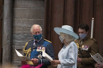 Camilla Parker Bowles The Prince Of Wales And The Duchess Of Cornwall Attend The Battle Of Britain 81st Anniversary Service Of Thanksgiving And Rededication