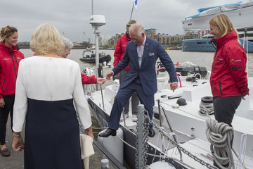Camilla Parker Bowles The Prince Of Wales And Duchess Of Cornwall Visit The 'Maiden' Yacht