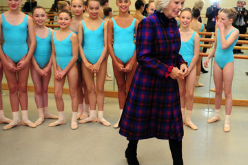 Camilla Parker Bowles Prince Charles Visits the School of Jewellery