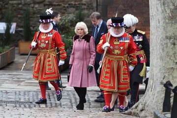 Camilla Parker Bowles The Prince Of Wales And The Duchess Of Cornwall Visit The Tower of London