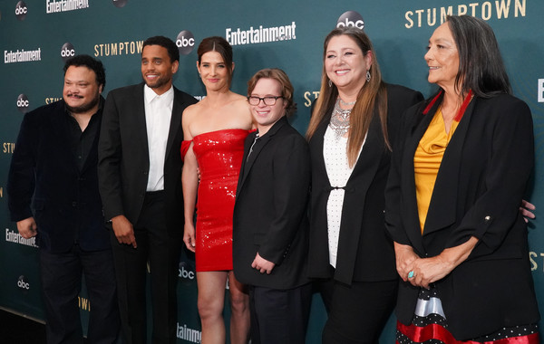 Premiere Of ABC's 'Stumptown' - Arrivals [premiere,event,carpet,little black dress,red carpet,flooring,award,suit,arrivals,adrian martinez,camryn manheim,cole sibus,michael ealy,l-r,stumptown,abc,premiere,premiere]