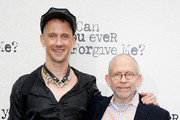 """Jeff Whitty (L) and Bob Balaban during the """"Can You Ever Forgive Me?"""" New York Premiere at SVA Theater on October 14, 2018 in New York City."""