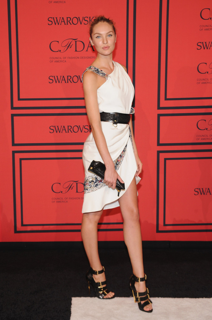Candice Swanepoel - Arrivals at the CFDA Fashion Awards