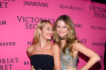 Candice Swanepoel Behati Prinsloo 2015 Victoria's Secret Fashion After Party - Pink Carpet Arrivals