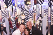 (L-R) Candytopia Co-founders Zac Hartog, Jackie Sorkin and John Goodman attend the Candytopia Philadelphia VIP Preview Event  at The Fashion District Mall on September 19, 2019 in Philadelphia, Pennsylvania.