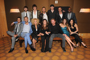 (Sitting row L-R) Musician Luke Bryan, musician Charles Kelley of Lady Antebellum, musician Kimberly Schlapman of Little Big Town, Hillary Scott of Lady Antebellum, musician musician Phillip Sweet of LBT, musician Kelleigh Bannen, musician Karen Fairchaild of Little Big Town, (back row L-R) musician Dave Haywood of Lady Antebellum, musician Jon Pardi, musician Dierks Bentley, musician Eric Paslay, musician Jimi Westbrook and musician Darius Rucker attend the Capitol Records Nashville ACM after party held at Aureole at the Mandalay Bay Resort & Casino on April 1, 2012 in Las Vegas, Nevada.