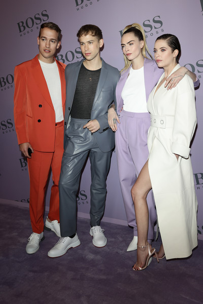 BOSS - Photocall - Milan Fashion Week Fall/Winter 2020 [fashion,suit,event,fashion design,formal wear,premiere,pantsuit,style,haute couture,peter zurkuhlen,ashley benson,tommy dorfman,cara delevingne,milan,italy,boss,milan fashion week,fashion show,milan fashion week fall,tommy dorfman,cara delevingne,ashley benson,milan fashion week,fashion show,peter zurkuhlen,fashion,fashion week,celebrity,socialite]