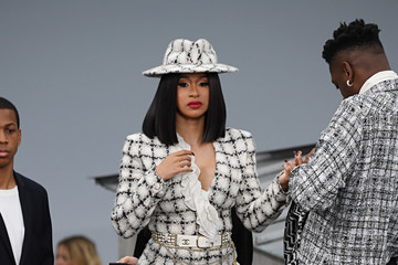 Cardi B Chanel : Front Row - Paris Fashion Week - Womenswear Spring Summer 2020