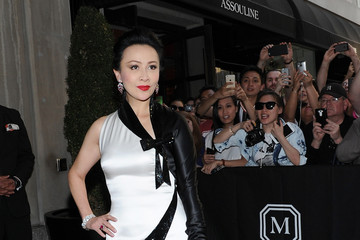 Carina Lau Met Gala 2015 Departures From The Mark Hotel - NYC