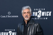 """Joe Mantegna and Carl F. Bucherer celebrate the premiere of """"John Wick: Chapter 3 - Parabellum"""" on May 15, 2019 in Los Angeles, California."""
