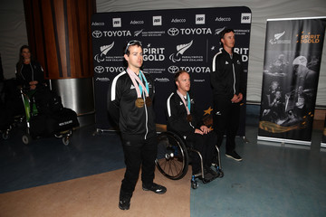 Carl Murphy New Zealand Paralympic Winter Games Team Arrival