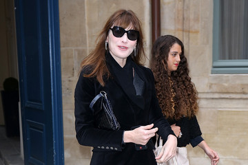 Carla Bruni-Sarkozy Arrivals at the Schiaparelli Show