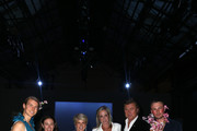 Richard Wilkins, Christian Wilkins; Andrew Kelly; Julie Bishop; Virginia Burmeister and Edwina McCann attend the Carla Zampatti show at Mercedes-Benz Fashion Week Resort 20 Collections at Carriageworks on May 16, 2019 in Sydney, Australia.