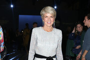 Julie Bishop attends the Carla Zampatti show at Mercedes-Benz Fashion Week Resort 20 Collections at Carriageworks on May 16, 2019 in Sydney, Australia.