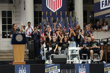 Carli Lloyd The US Women's National Soccer Team Victory Parade And City Hall Ceremony