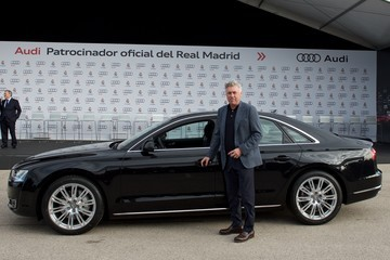 Carlo Ancelotti Real Madrid Players Receive New Audi Cars