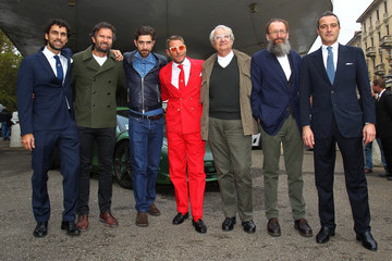 Carlo Cracco Lorenzo Landini Lapo Elkann Inaugurates Garage Italia Customs