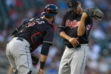Carlos Carrasco Cleveland Indians  v Minnesota Twins