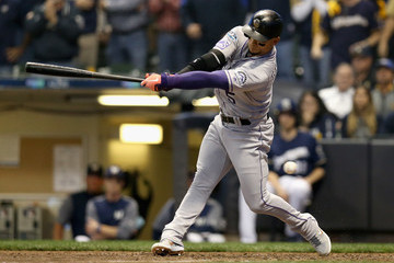 Carlos Gonzalez Divisional Round - Colorado Rockies vs. Milwaukee Brewers - Game One