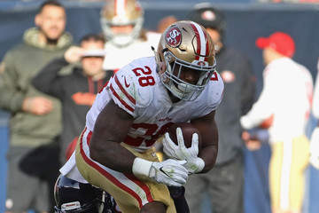 Carlos Hyde San Francisco 49ers v Chicago Bears