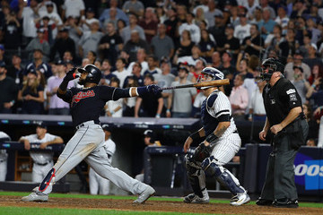 Carlos Santana Divisional Round - Cleveland Indians v New York Yankees - Game Three