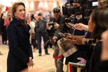 Carly Fiorina President-Elect Donald Trump Holds Meetings At Trump Tower