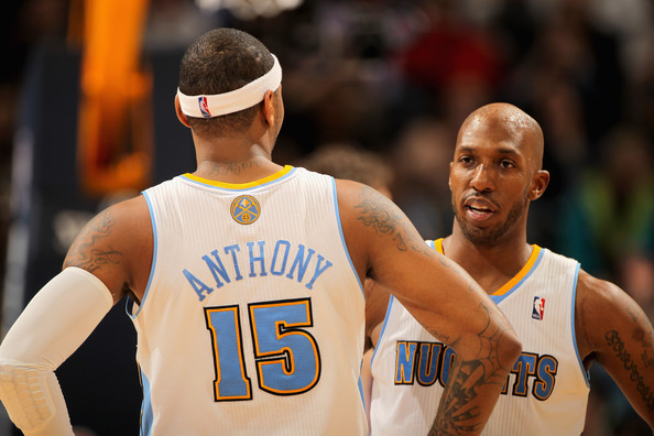 Chauncey Billups and Carmelo Anthony - Los Angeles Lakers v Denver Nuggets