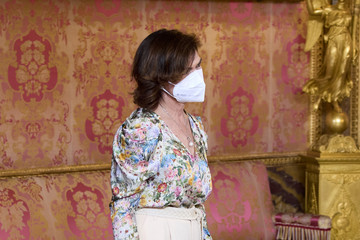 Carmen Calvo Spanish Royals Host A Lunch For Secretary-General of the United Nations, Antonio Guterres