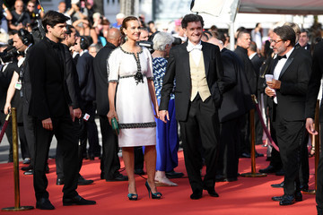 Carole Bouquet 70th Anniversary Red Carpet Arrivals - The 70th Annual Cannes Film Festival