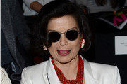 Bianca Jagger attends the Carolina Herrera Spring 2013 fashion show during Mercedes-Benz Fashion Week at The Theatre at Lincoln Center on September 10, 2012 in New York City.