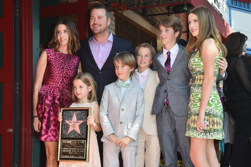Caroline Fentress Chris O'Donnell Honored on the Walk of Fame