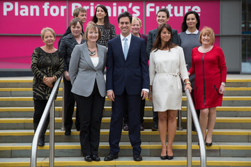 Caroline Flint Ed Miliband Arrives At The Annual Labour Party Conference