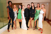 Amilna Estevao, Jennifer Yepez, Olivia Perez, Elizabeth Sulcer, David Koma, Yasmin Wijnaldum, Alana Arrington and Shea Marie attend Caroline Rush, Julia Restoin Roitfeld and Bloomingdales Celebrate David Koma's 10th Anniversary at The Peninsula Hotel on October 30, 2019 in New York City.