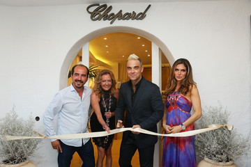 Caroline Scheufele Alexis Veller Robbie Williams Inaugurates Chopard Boutique in Porto Cervo