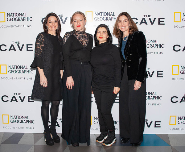 The Cave Screening + Q&A [documentary films,fashion,event,fashion design,premiere,dress,little black dress,award,carolyn bernstein,kirstine barfod,president,alisar hassan,national geographic global television networks courteney monroe,q a,l-r,national geographic,cave screening]