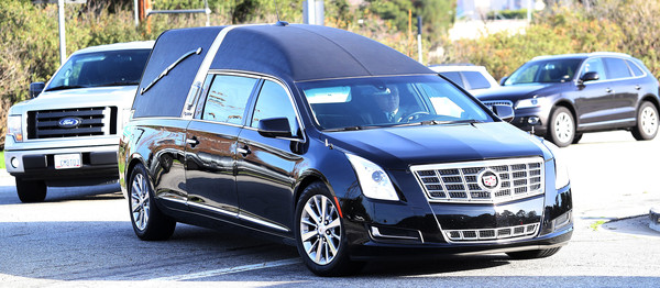 Debbie Reynolds And Carrie Fisher Funeral [debbie reynolds,carrie fisher,land vehicle,vehicle,car,motor vehicle,luxury vehicle,automotive design,cadillac xts,full-size car,executive car,transport,carrie fisher funeral,california,los angeles,forest lawn cemetery,funeral procession,memorial and funeral]