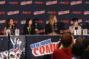 (L-R) Actress Shelby Rabara, animator Niki Yang, actor Greg Cipes and animator Rebecca Sugar speak onstage at the Cartoon Network Screening: Steven Universe. Cartoon Network at New York Comic Con at Jacob Javitz Center on October 10, 2015 in New York, United States. 25749_001 255.JPG