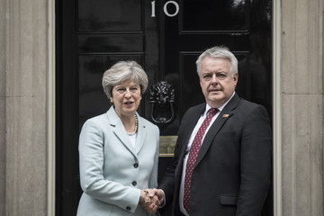 Carwyn Jones Prime Minister Theresa May Meets the First Minister of Wales
