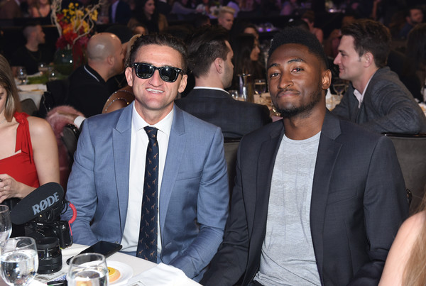 The 9th Annual Streamy Awards - Inside [event,audience,crowd,marques brownlee,casey neistat,streamy awards,l-r,los angeles,california,the 9th annual streamy awards]