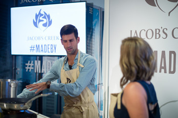 Casey Thompson Novak Djokovic With Chef Casey Thompson to Kick Off Partnership With Official Wine Of The U.S. Open, Jacob's Creek