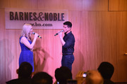 "Actors Katie Rose Clarke and Telly Leung promote the original Broadway cast recording of ""Allegiance"" at Barnes & Noble, 86th & Lexington on February 5, 2016 in New York City."