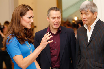 Edwin Low Catherine, Duchess of Cambridge Visits National Portrait Gallery's 'Road To 2012: Aiming High' Exhibition