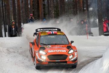 Cato Menkerud FIA World Rally Championship Sweden - Day One