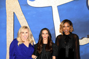 """(L-R) Rebel Wilson, Francesca Hayward and Jennifer Hudson attend the """"Cats"""" photocall at The Corinthia Hotel on December 13, 2019 in London, England."""
