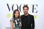 """Nadine Warmuth and Joerg Oppermann at the """"Celebrate 40 years – Best of Vogue Salon"""" during the Berlin Fashion Week Spring/Summer 2020 at KaDeWe on July 05, 2019 in Berlin, Germany."""