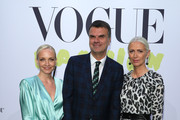 "(L-R) Janin Ullmann, Andre Pollmann and Christiane Arp at the ""Celebrate 40 years – Best of Vogue Salon"" during the Berlin Fashion Week Spring/Summer 2020 at KaDeWe on July 05, 2019 in Berlin, Germany."