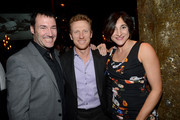 """""""Brave"""" director Mark Andrews, actor Kevin McKidd and """"Brave"""" producer Katherine Sarafian attend a celebration of the Oscar nominated films """"Brave"""" and """"Wreck it Ralph"""" at The Edison on February 23, 2013 in Los Angeles, California."""