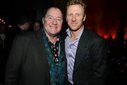 """Pixar and WDAS CCO John Lasseter and actor Kevin McKidd attend a celebration of the Oscar nominated films """"Brave"""" and """"Wreck it Ralph"""" at The Edison on February 23, 2013 in Los Angeles, California."""
