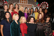 "Cheryl Ladd, Sarah Drew, Rachel Boston, Megan Hilty, Melissa Joan Hart, Toni Braxton, Tiya Sircar, Bethany Joy Lenz, Keshia Knight Pulliam, Meghan Hooper White, Dee Wallace, Jordan Ladd, Marissa Jaret Winokur, Daneel Ackles and Tanya Lopez attend the VIP opening night of the life-sized gingerbread house in celebration of ""It's A Wonderful Lifetime"" at The Grove on November 14, 2018 in Los Angeles, California."